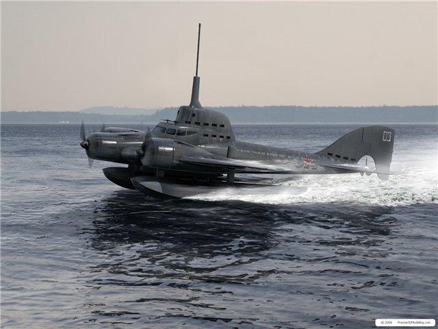 видео самолет взлетает с подводной лодки видео